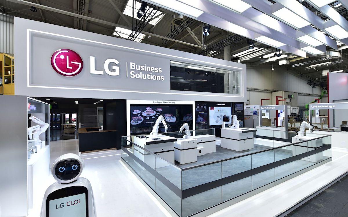 Stand von LG auf der Hannover Messe 2019 (Foto: LG)