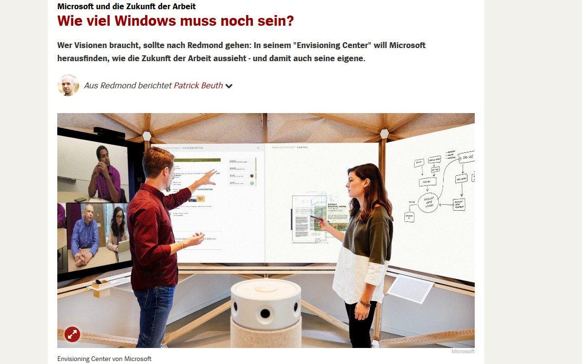 Lesetipp - Microsoft Collaboration (Screenshot Spiegel Online)