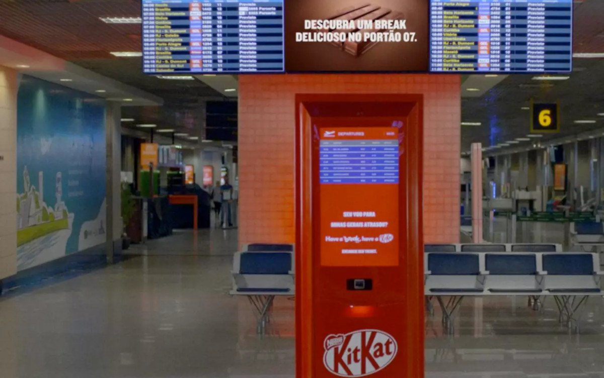 KitKat Digital Signage in Sao Paulo (Foto: Screenshot JWT)