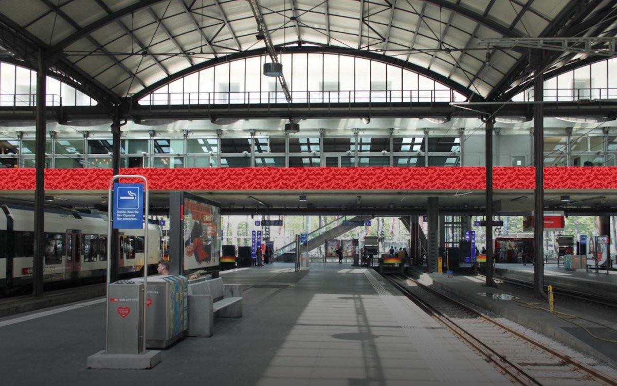 Der neue LED Screen wird ab Juni 2019 genutzt (Foto: SBB)