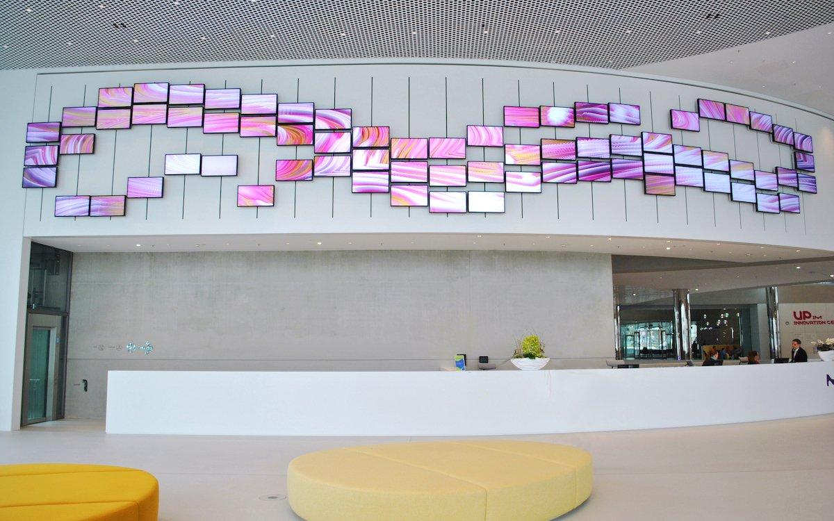 Die Screens dieser Video Wall sind beweglich (Foto: eyevis)