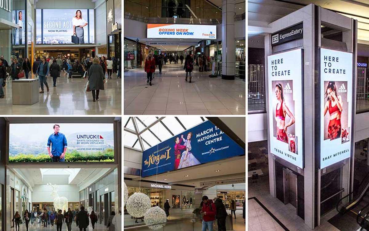 In diesen Einkaufszentren wurden neue LED Screens installiert (Fotos: Daktronics)