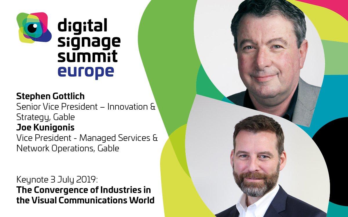 Stephan Gottlich und Joe Kunigonis berichten über ihre Ansätze in der gemeinsamen Keynote (Foto / Grafik: DSS Europe)