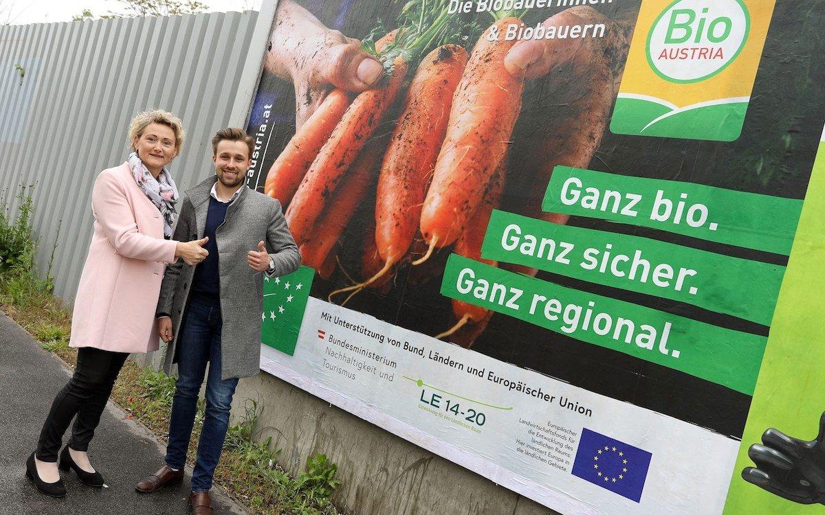 Österreichs Biobauern werben nun landesweit (Foto: Epamedia)