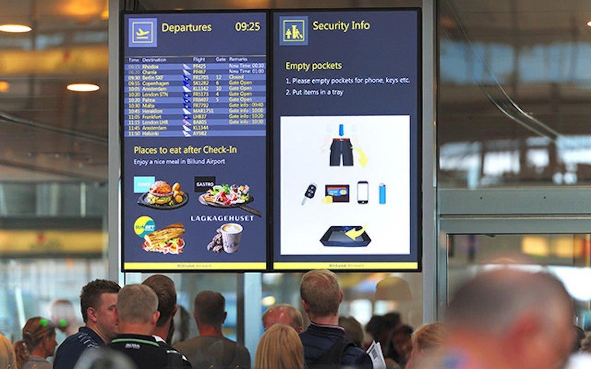 Reiseinformationen und weitere Inhalte werden auf den neuen Screens ausgespielt (Foto: NEC)