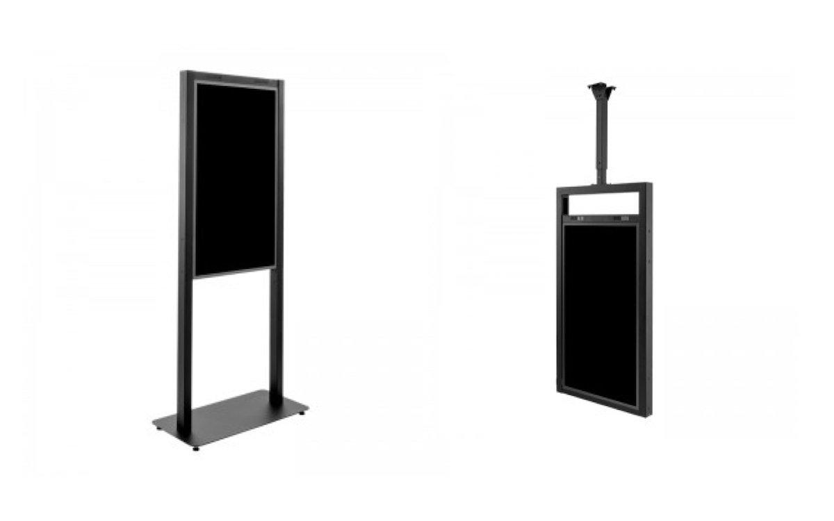 Varianten des Systems für die doppelseitigen Screens (Fotos: Hagor)