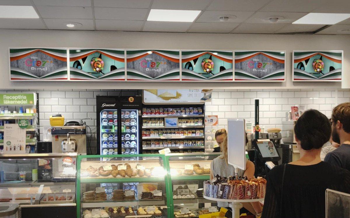 7-Eleven Menüboards in Schweden (Foto: 7-Eleven/Visual Art)