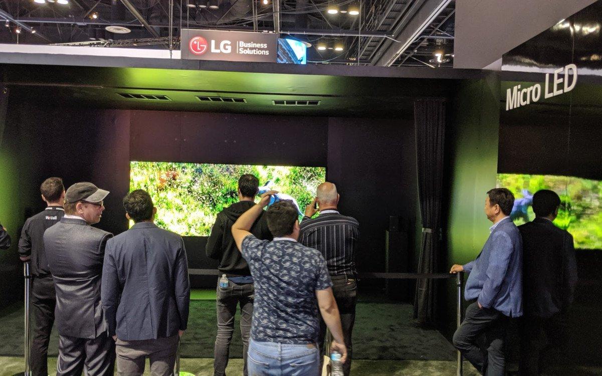 LG präsentierte ersten MicroLED Prototypen (Foto: invidis)