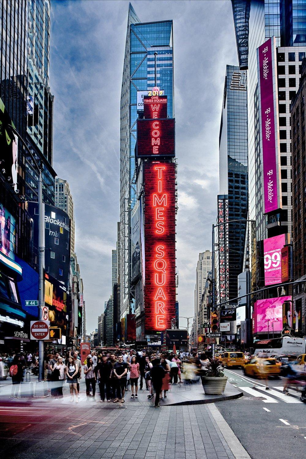 Mehr als 1080 m² Samsung LED am Times Square (Foto: Samsung)