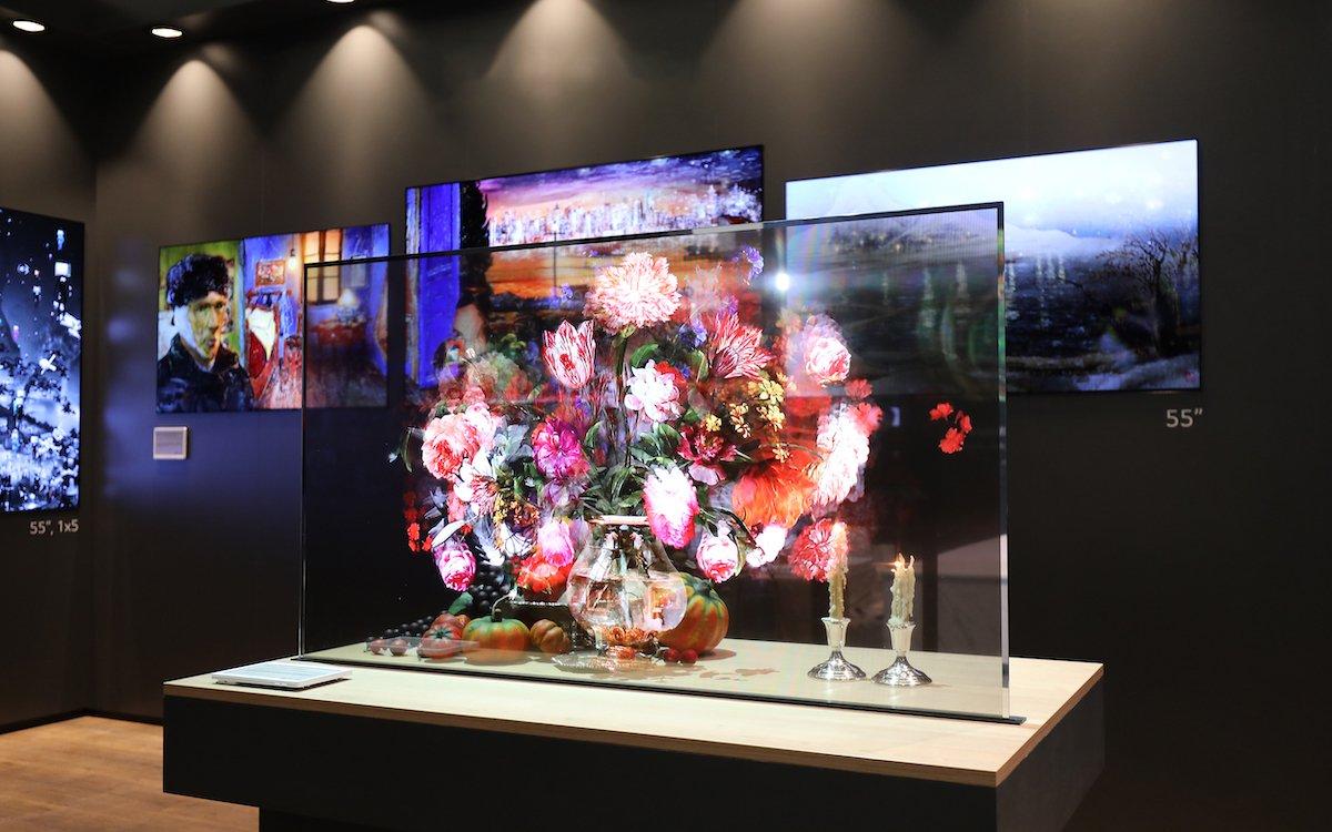 """55"""" Transparent OLED der 2. Generation von LG (Foto: Lang AG)"""