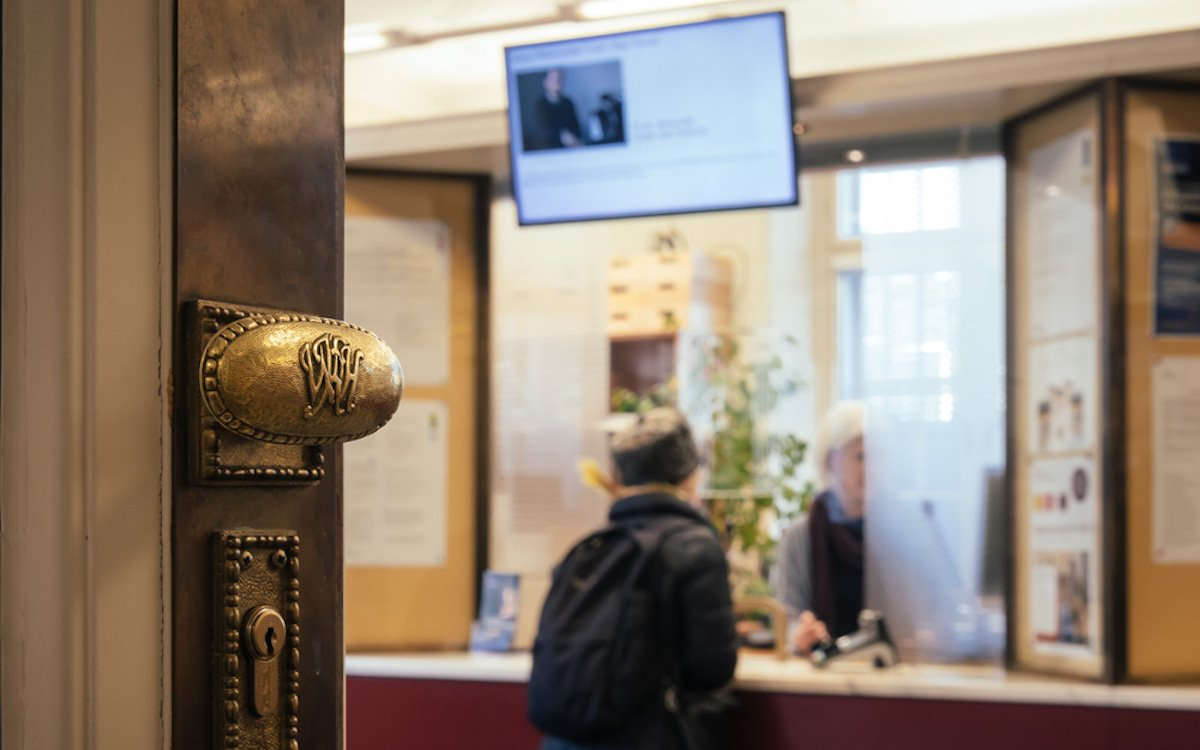 Im Konzerthaus Wien wurden 4 Screens für das Ticketing installiert (Foto: Peakmedia)