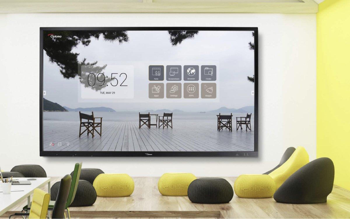 Interactive Screen von Optoma in einem Büro (Foto: Optoma)