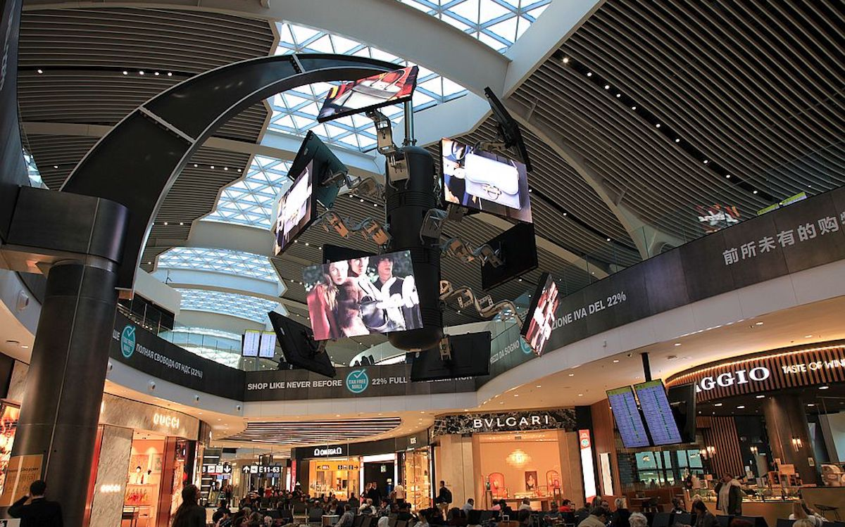 Simtecs ScreenFLITE am Airport Fiumicino in Rom (Foto: Simtec Systems)