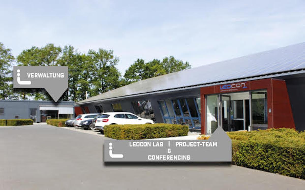 Standort von LECON in Rheine (Foto: LEDCON)