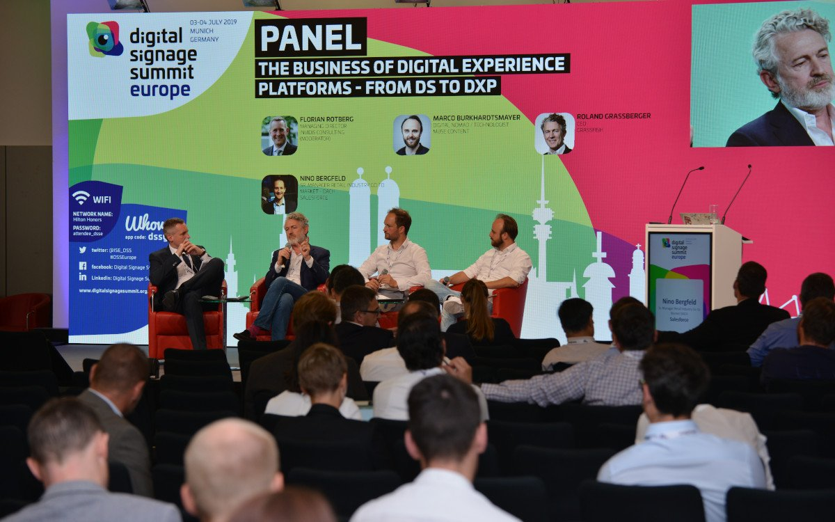 DXP-Panel auf der DSS Europe 2019 (Foto: invidis)
