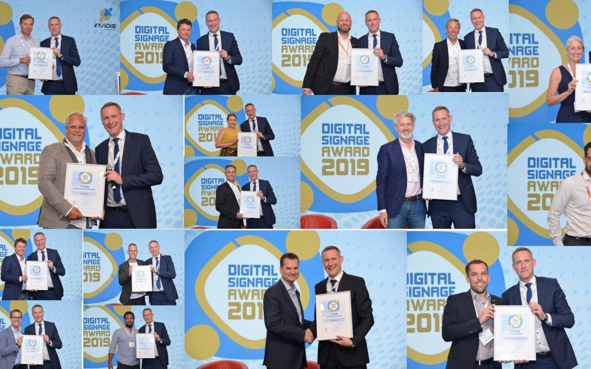 So sehen Sieger aus - invidis Digital Signage Awards 2019 (Foto: invidis)