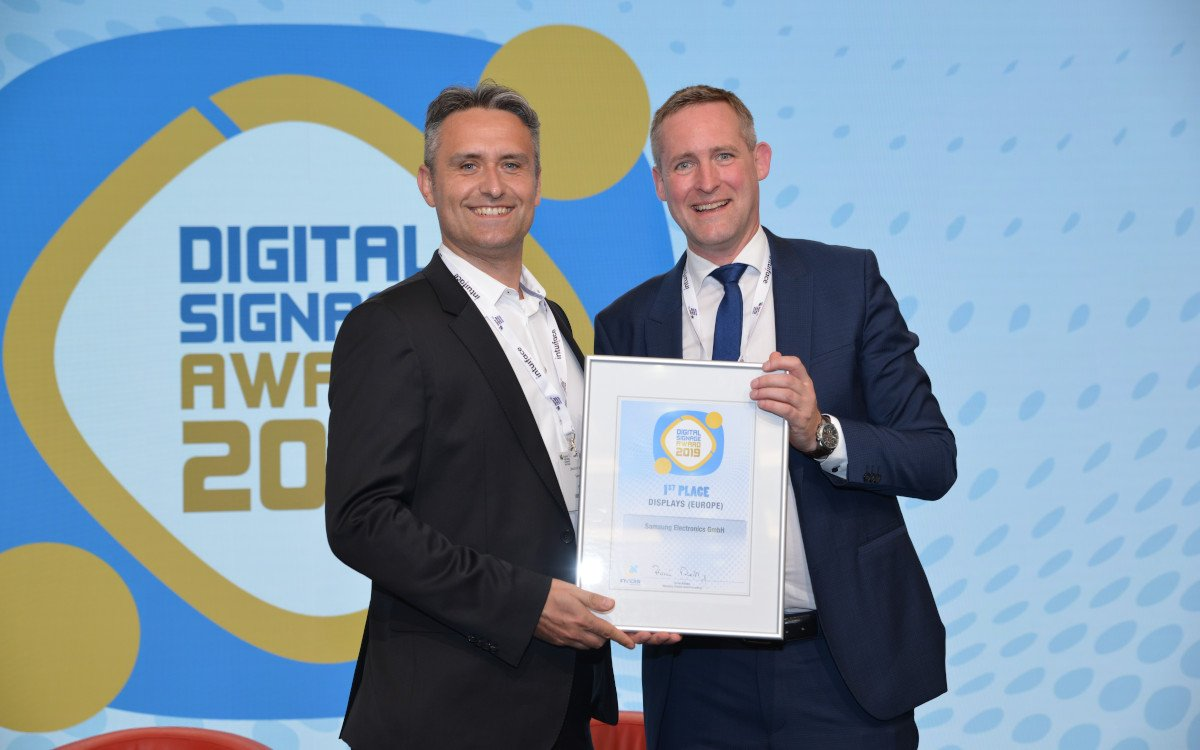 Joachim Wieczorek / Samsung – Top 3 Europe Digital Signage Display OEM (Foto: invidis)