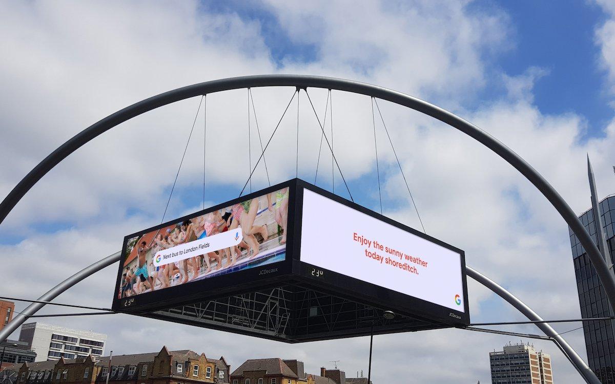Aktuelles Motiv der Google Kampagne in London im Juli 2019 (Foto: Grand Visual)