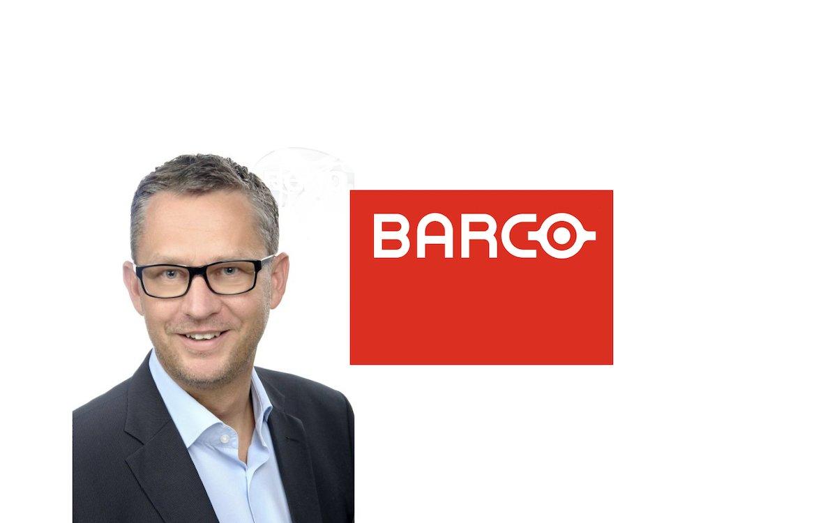 André Hoock ist zu Barco gewechselt (Foto: Archiv; Grafik: Barco)