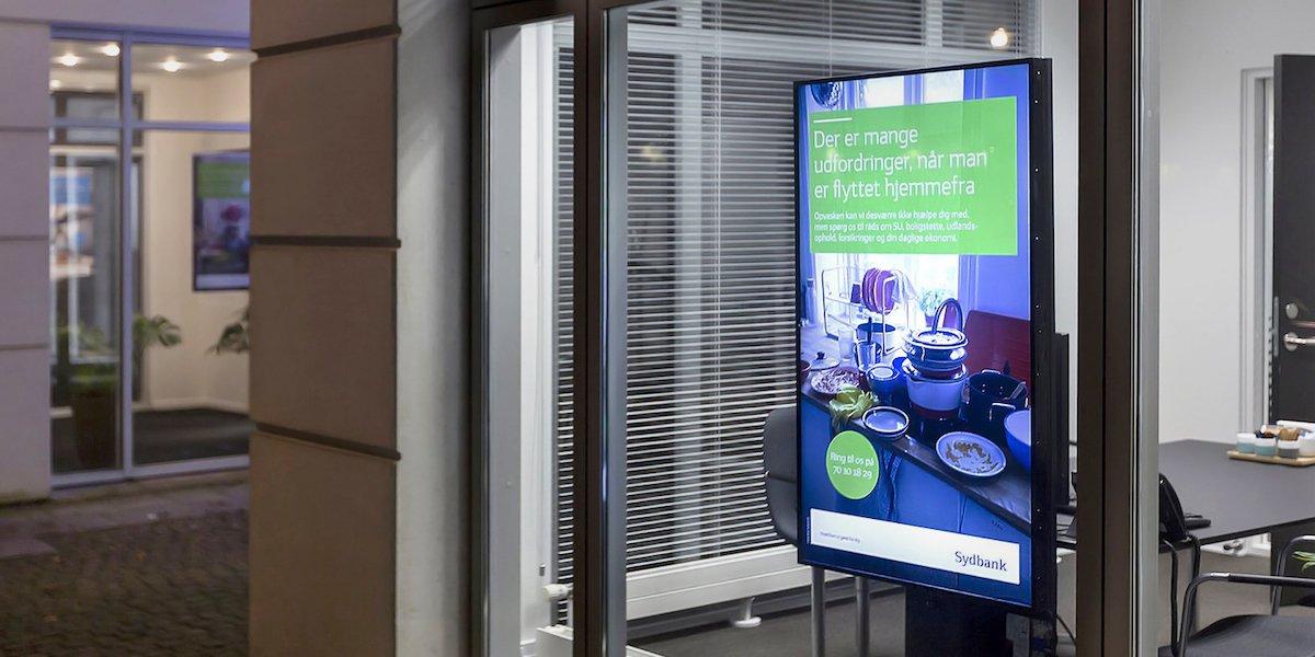 Bei den Screens nutzt Sydbank Lösungen von LG (Foto: LG)