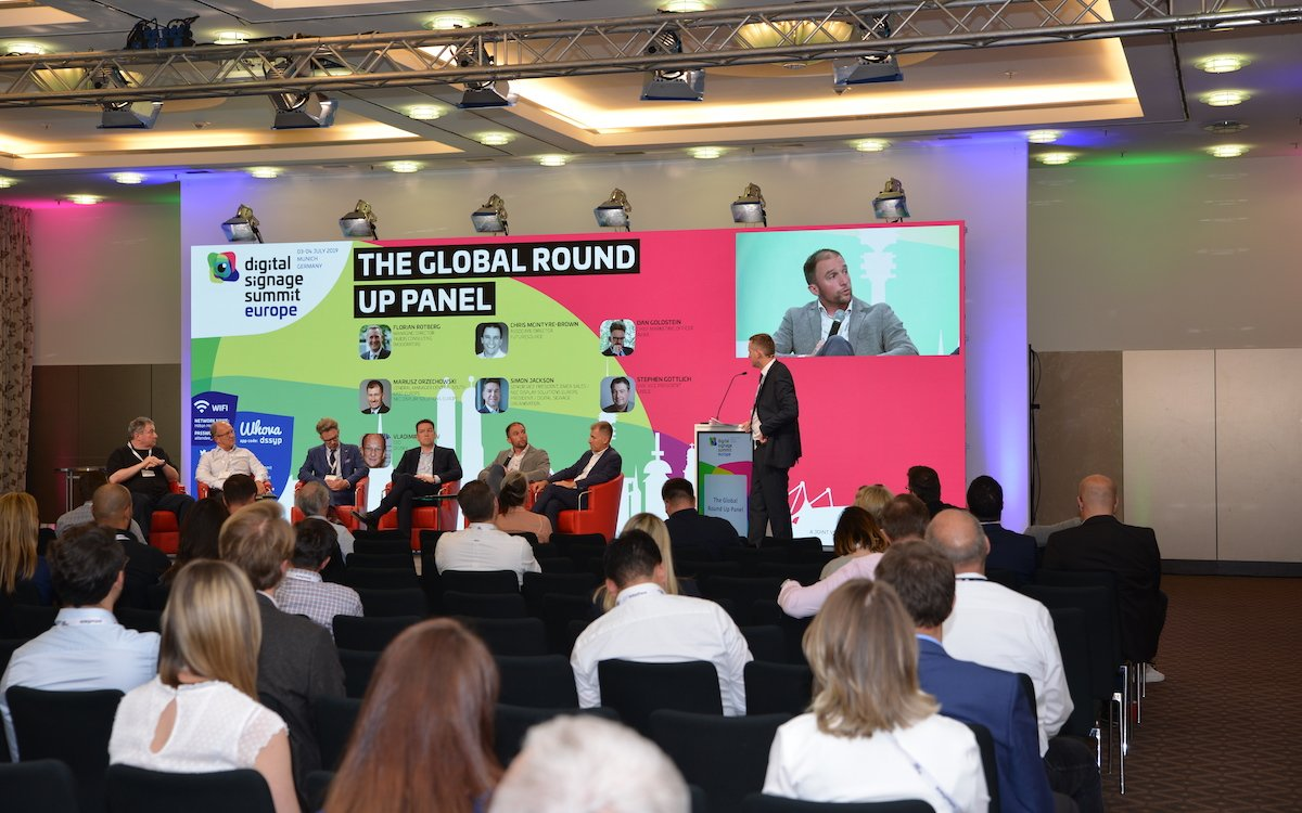 Das Global Round Up Panel beim DSS Europe 2019 (Foto: Frank Böhm)