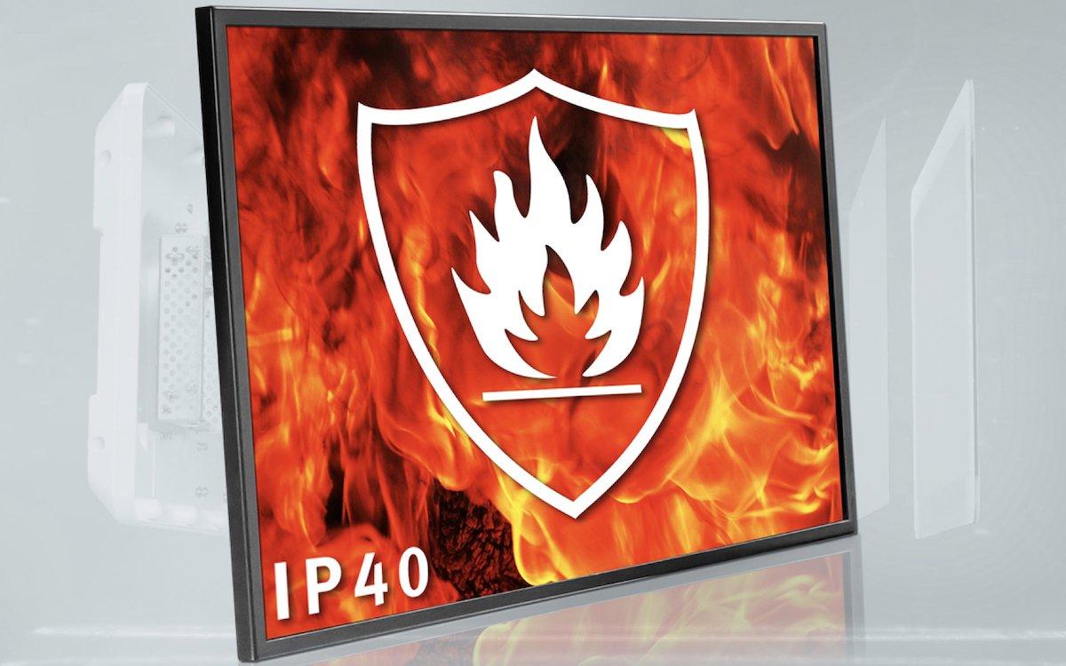 DATA MODUL hat für brandgeschützte Screens nun eine besondere Zertifizierung erhalten (Foto: DATA MODUL)