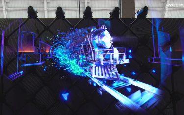 Mit mehreren HYPERVSNs umgesetztes Hologramm (Foto: HYPERVSN)