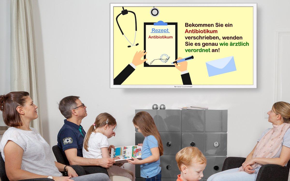 TV-Wartezimmer macht Antibiotikaresistenzen zum Thema (Foto: TV-Wartezimmer)