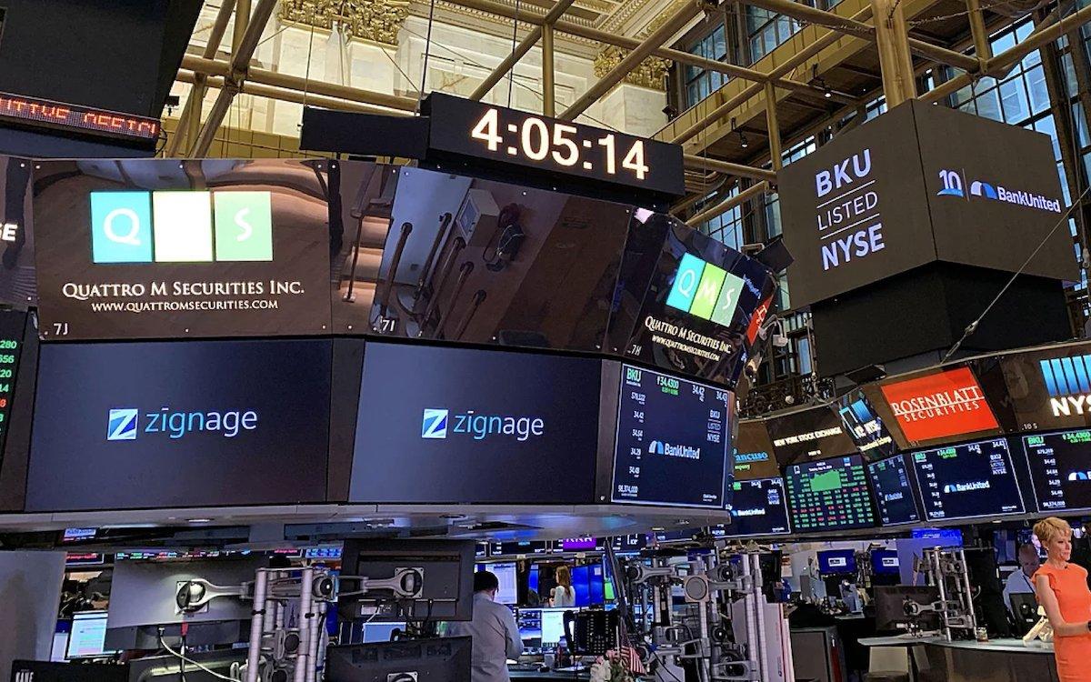 Auch an der NYSE wird die Lösung Zignage eingesetzt (Foto: Zignage)