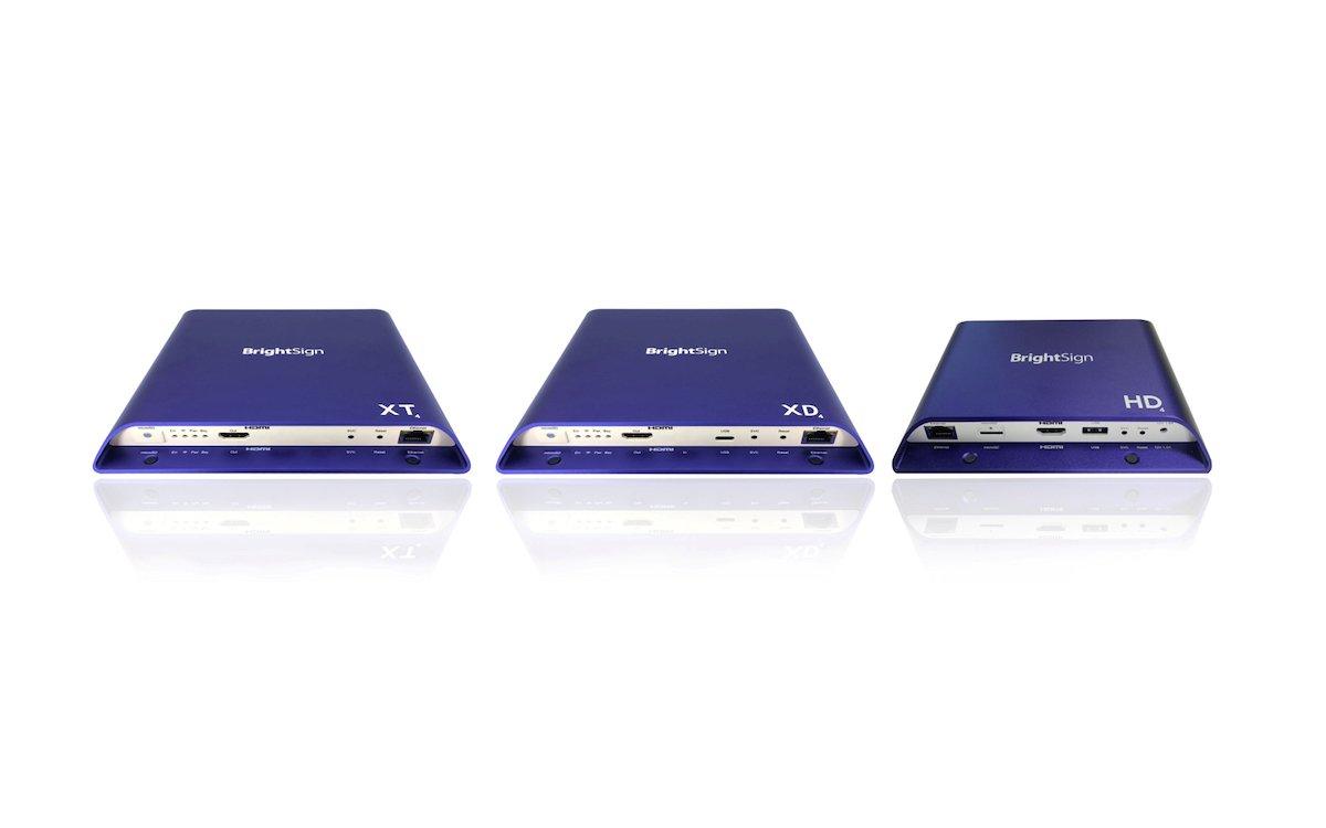 Die Zuspieler XT und XD der Serie 4 sind nun voll mit YCD RAMP kompatibel (Foto: BrightSign)