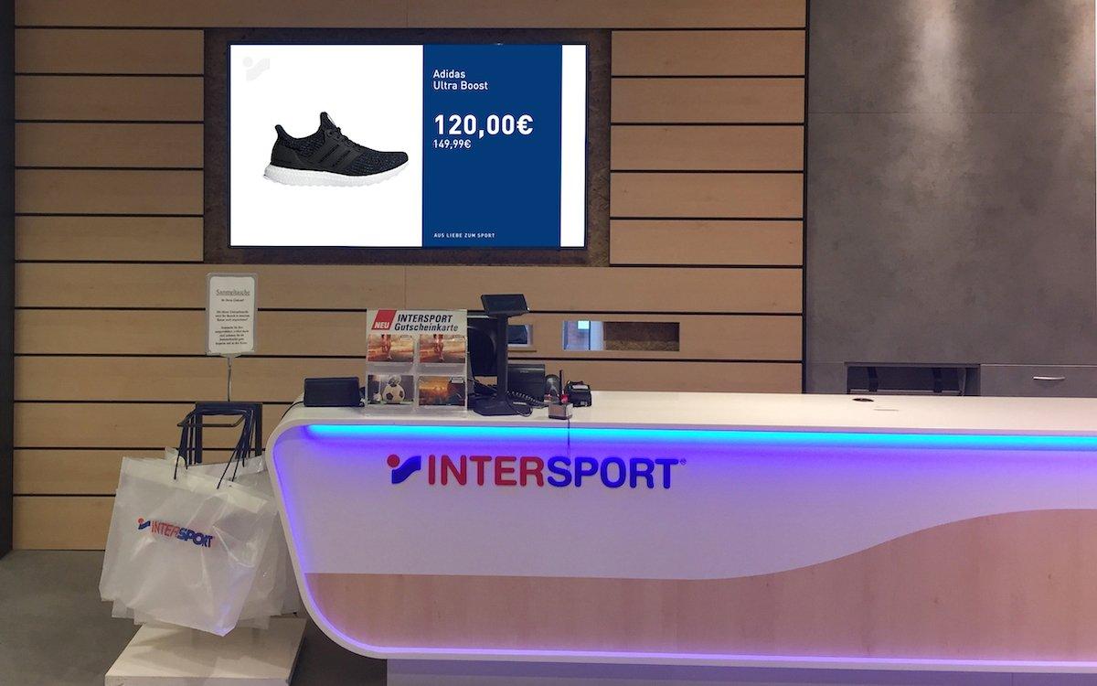 Intersport setzt auf ein neues Digital Signage System (Foto: LobbySpace)