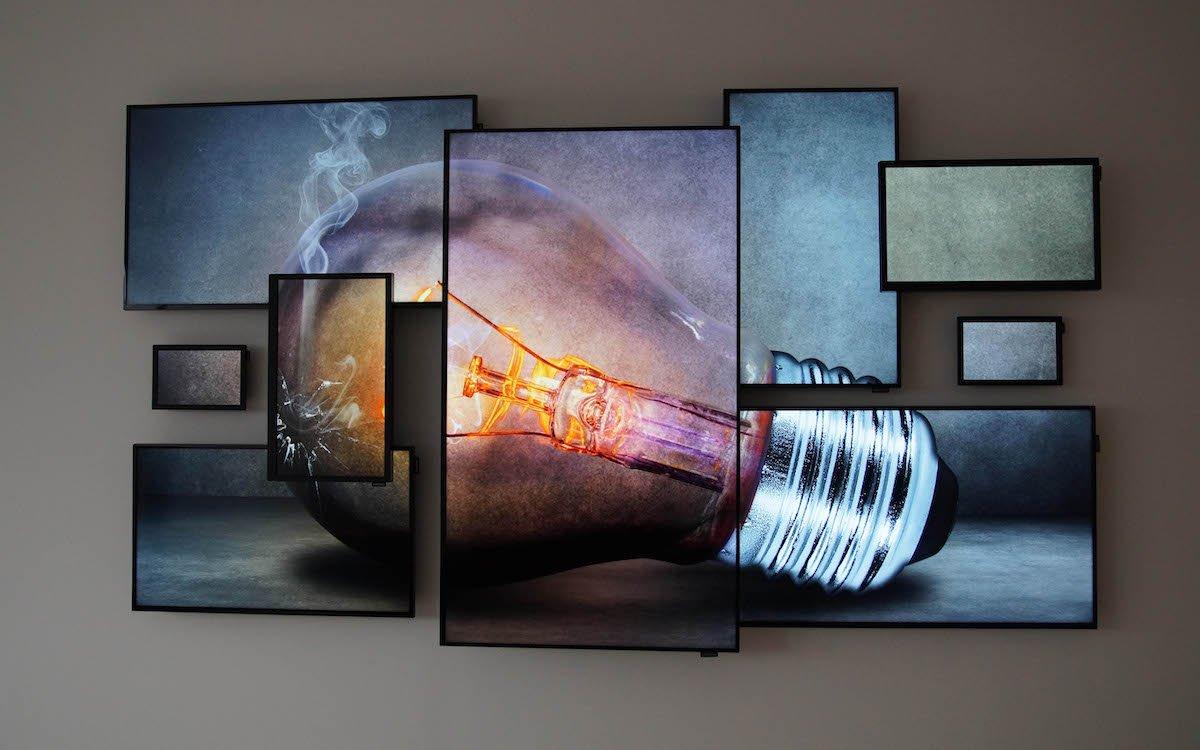 Von Logando erstellte Art Wall mit Samsung Screens (Foto: Logando)