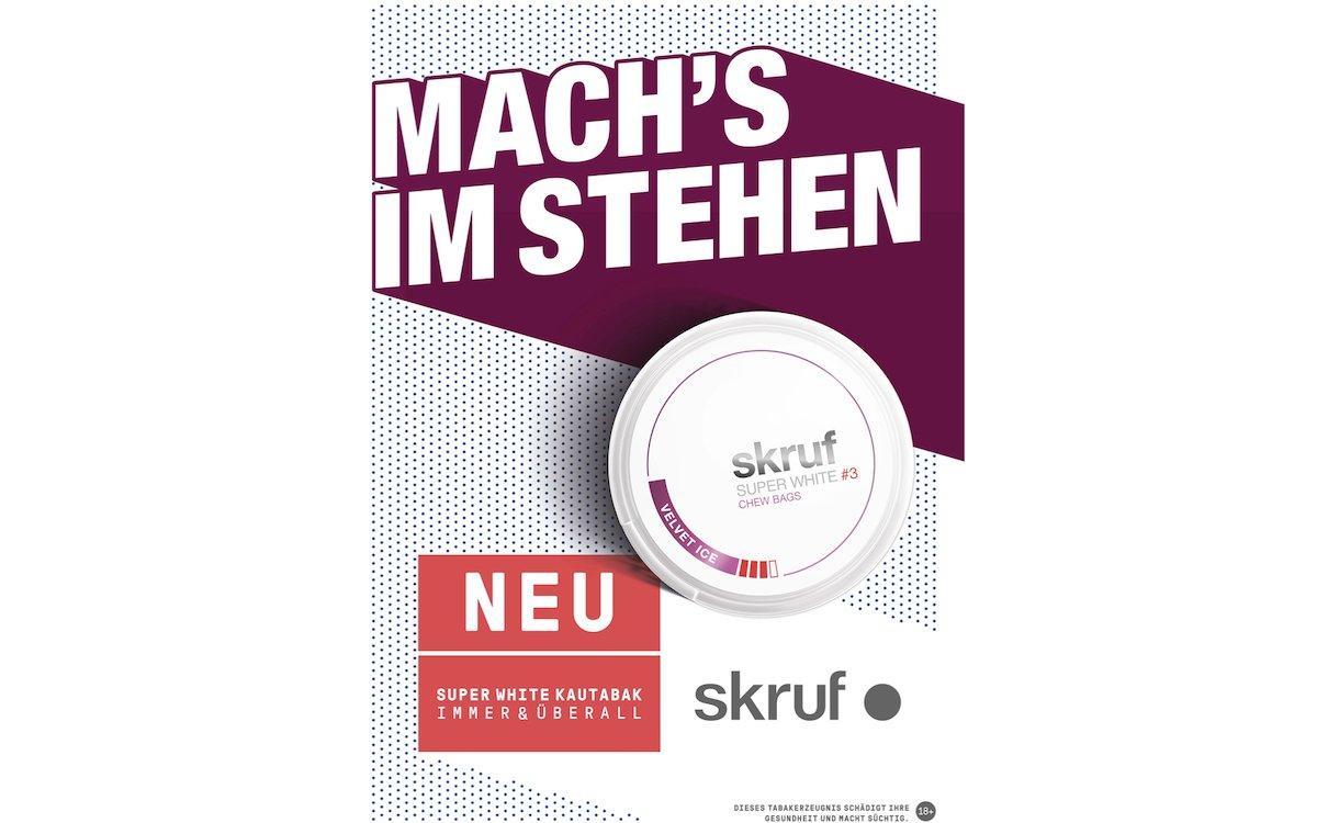 """Zum Marktstart in Deutschland macht sich """"skruf"""" via Out-of-Home bekannt (Grafik: Weischer.Media)"""