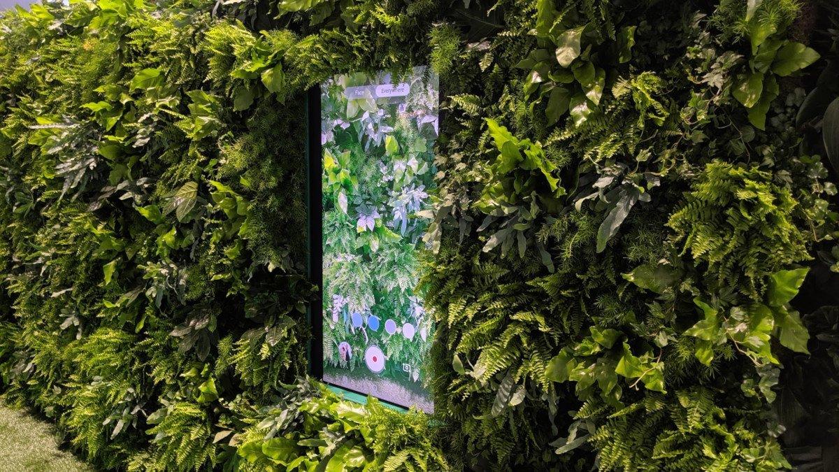 Sustainable Solutions - es grünt natürlich auch bei Samsung auf der IFA 2019 (Foto: invidis)