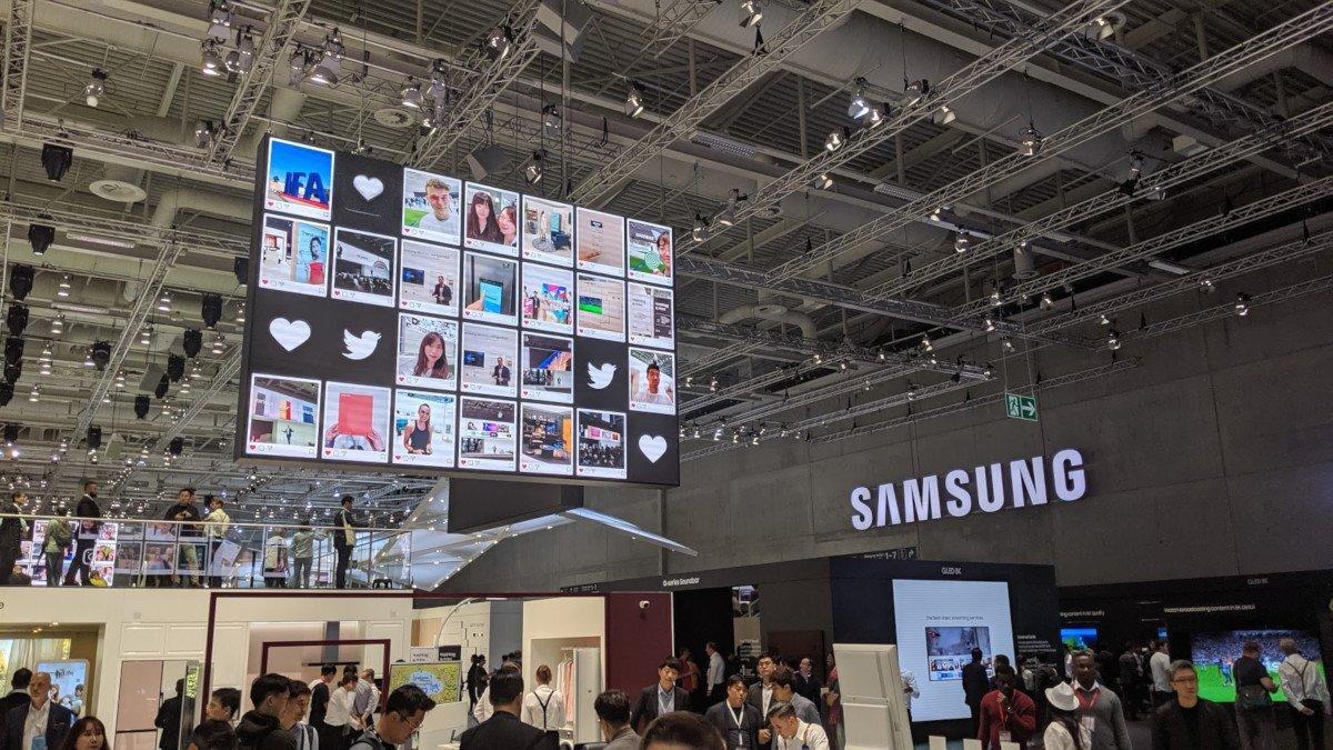Sharable Moments - Social Media Wall bei Samsung auf der IFA 2019 (Foto: invidis)