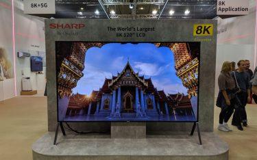 """Sharp 120"""" LCD mit 8k Auflösung (Foto: invidis)"""