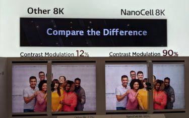 Contrast Modulation test bei LG auf der IFA (Foto: invidis)