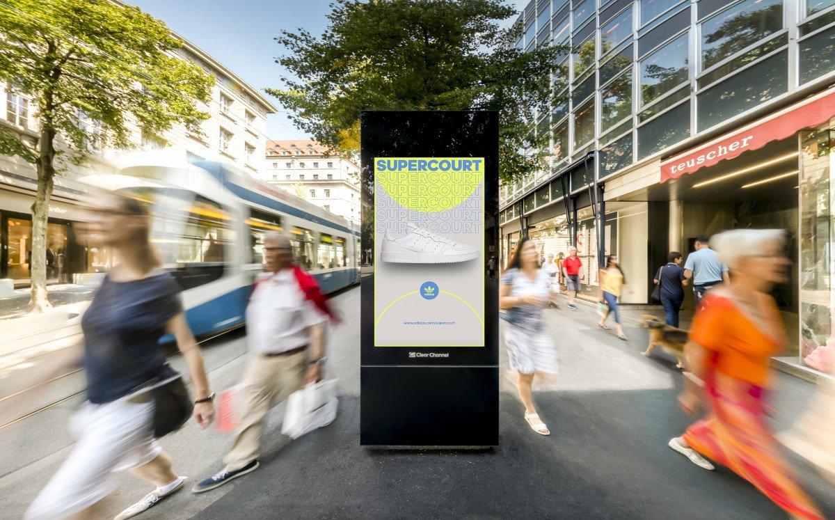 Clear Channel Digital Stele in Zürich (Foto: Clear Channel)