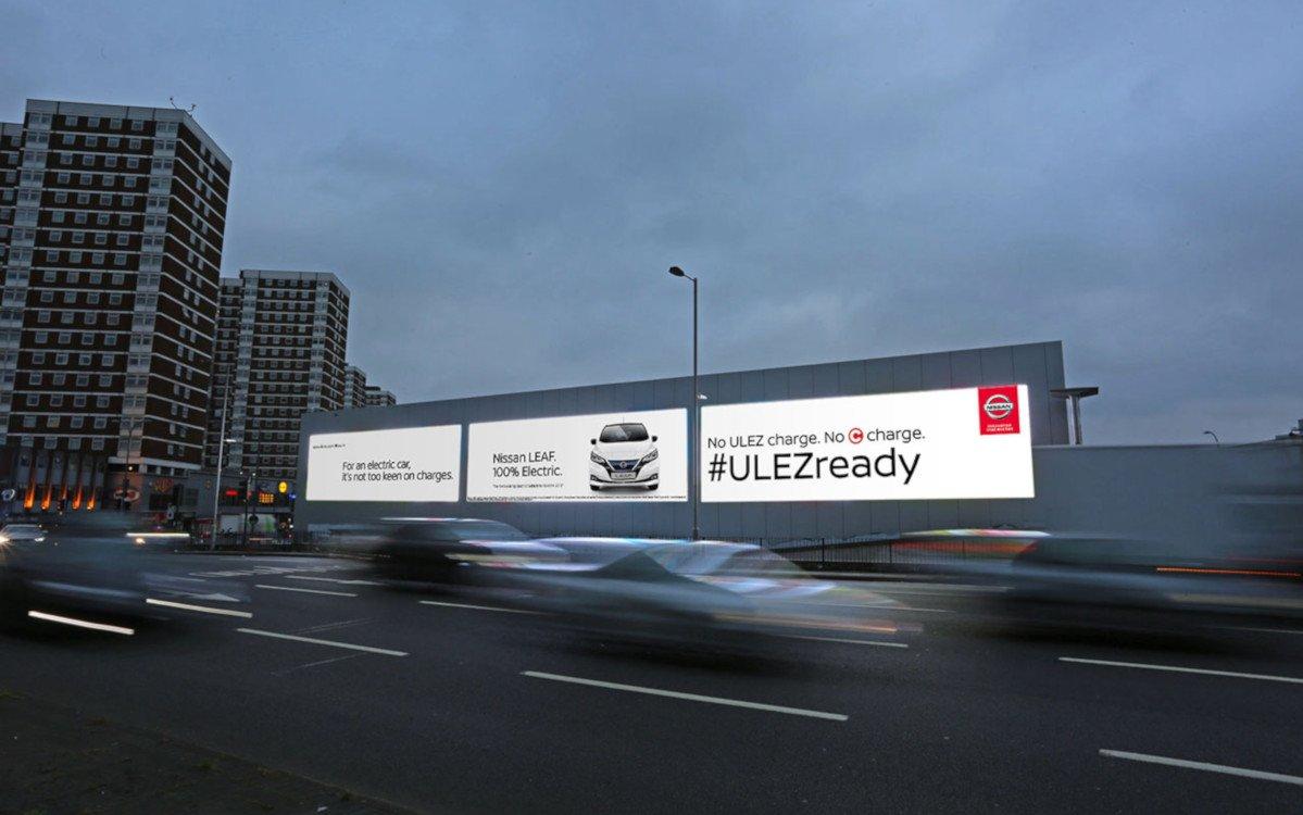 Real-Time Digital Kampagne von Nissan (Foto: Ocean Outdoor)