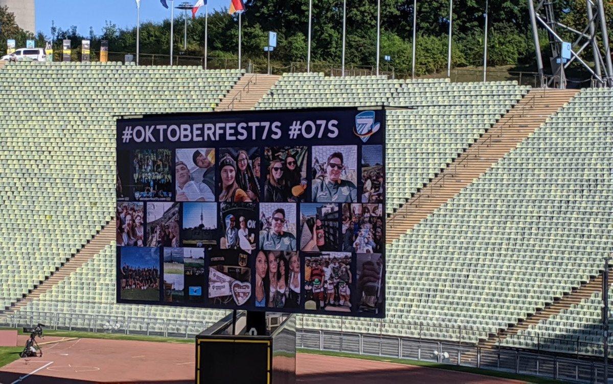 Kein Event ohne Social Media - so auc beim Oktoberfest 7s Rugby in München (Foto: invidis)
