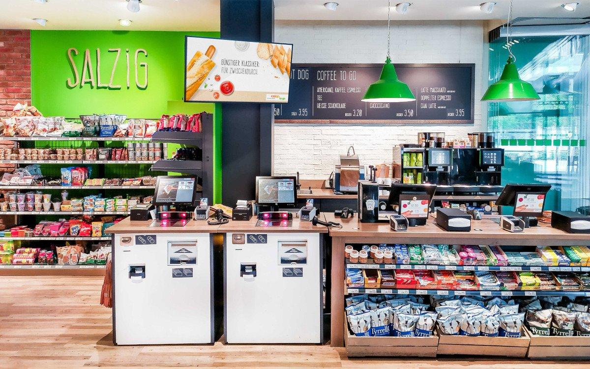 Coop TV an Convenience Standorten in der Schweiz (Foto: Road Media AG)