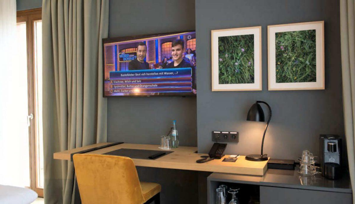 IP-TV von Samsung in einem der Zimmer des Hotels (Foto: a/c/t Beratungs & System GmbH)