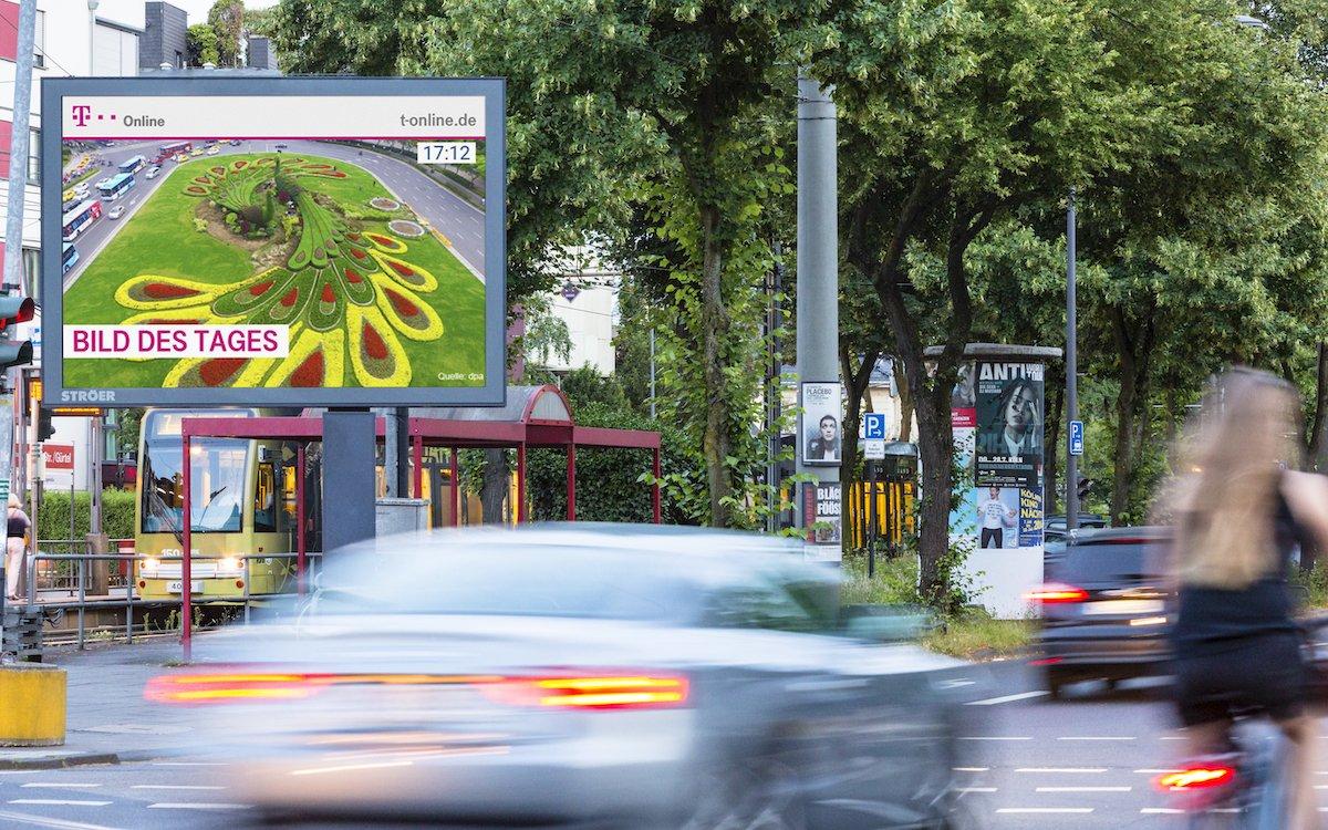 Roadside Screen von Ströer, hier in Köln (Foto: Ströer)