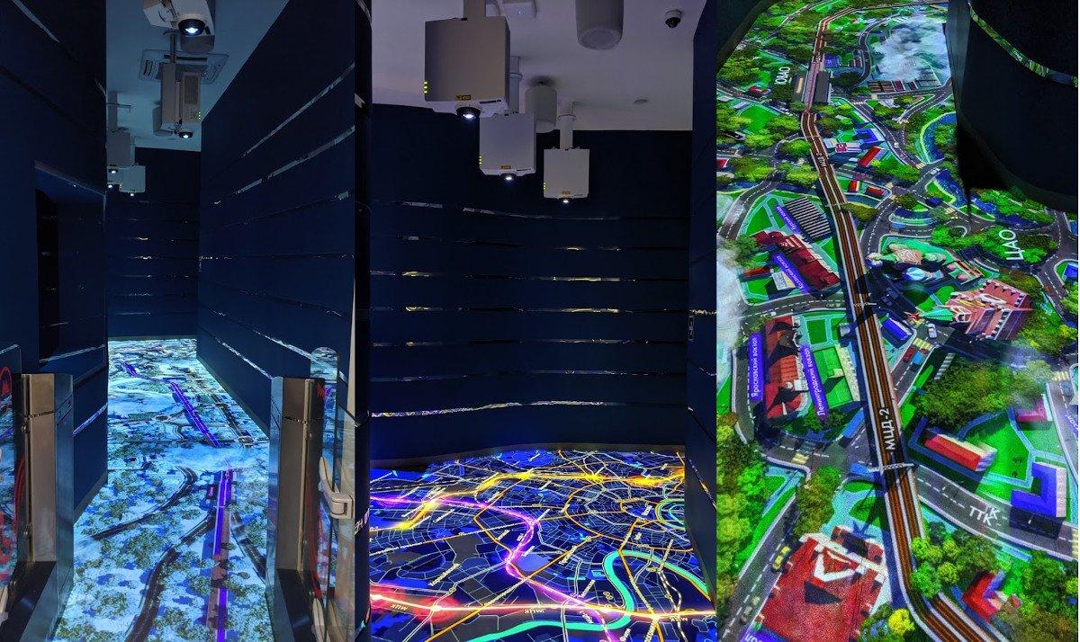 Das Streckennetz zum Erleben - Bodenprojektion (Foto: invidis)