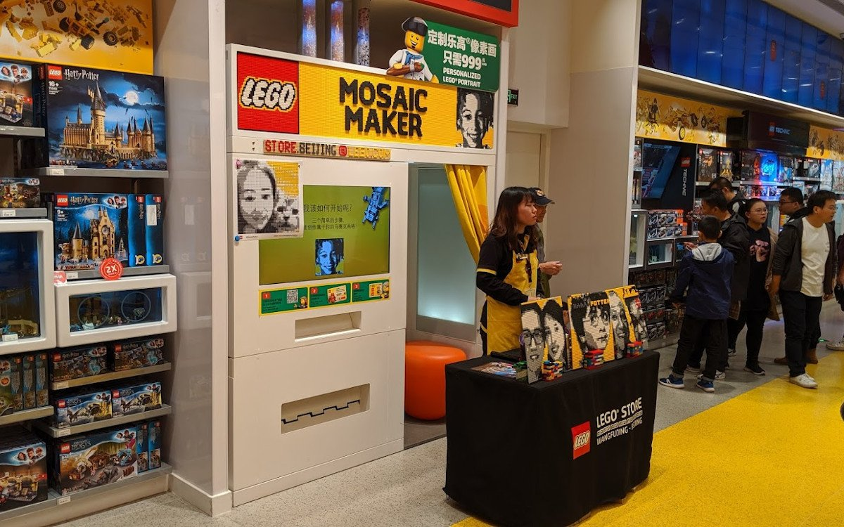 Lego Mosaic Maker im Flagship Peking (Foto: invidis)