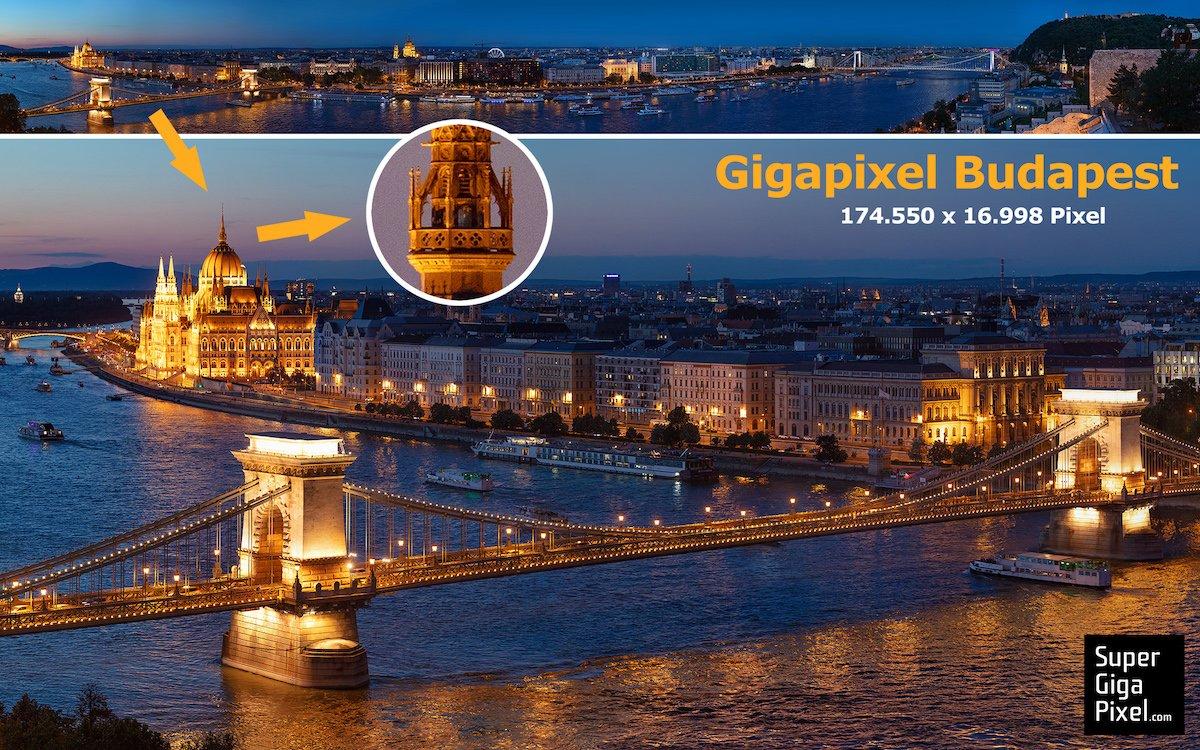 Ausschnitt aus dem SuperGigaPixel-Foto von Budapest (Foto: von Aichberger & Roenneke)