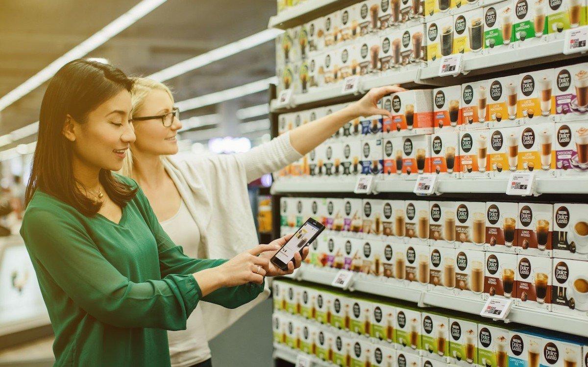 Pay per Tag-Lösung am PoS (Foto: SES-imagotag / Miriam Primik)