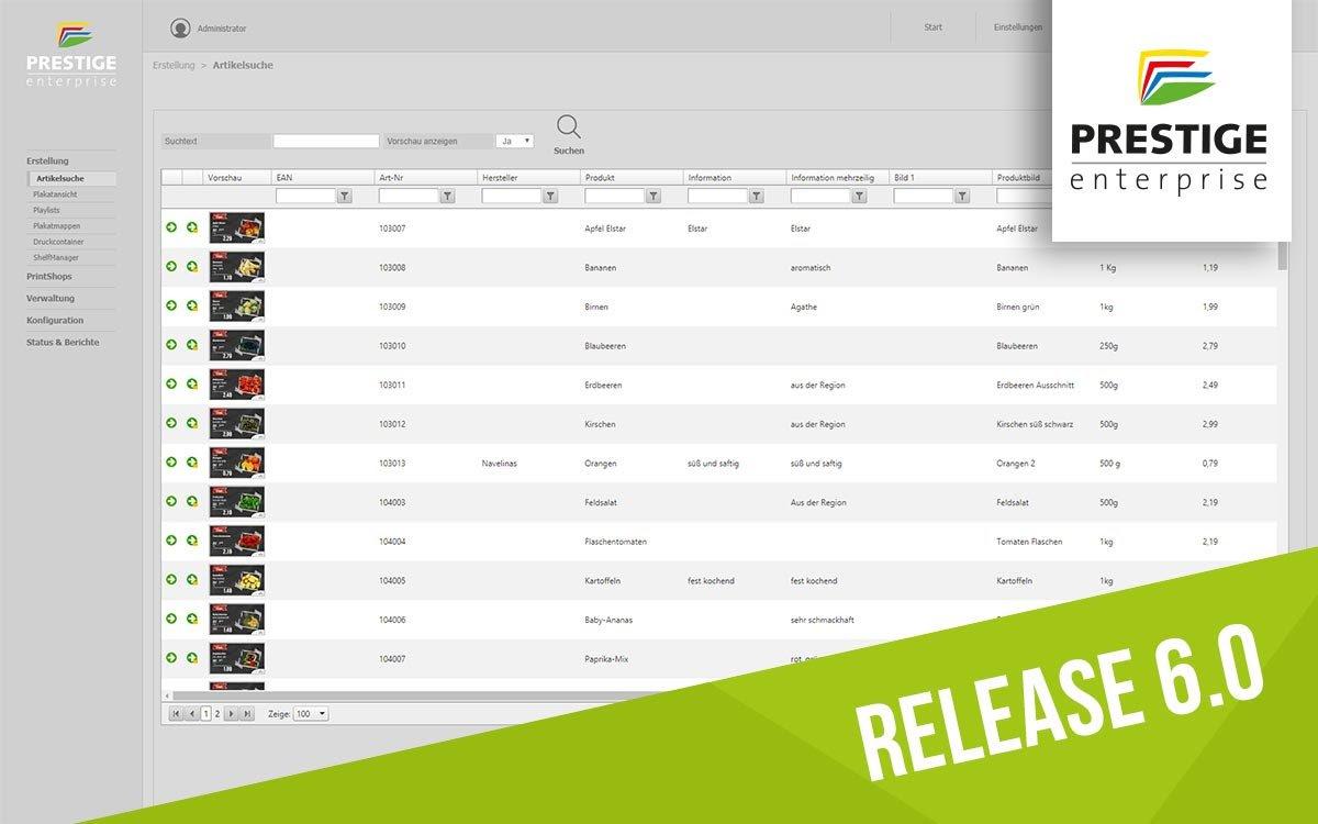 PRESTIGEenterprise: ein erster Blick auf das Release 6.0 (Foto / Grafik: Online Software AG)