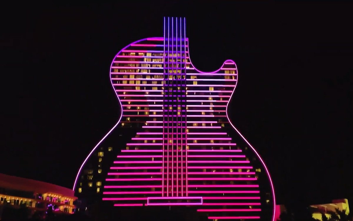 Guitar Hotel in Florida - 10km LED-Fassade (Foto: Screenshot Video)