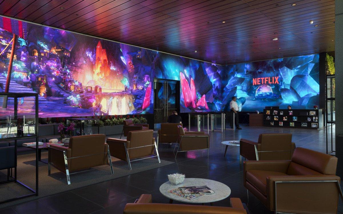 Auch in Lobby von Netflix in Hollywood - digital und immersive (Foto: Netflix)